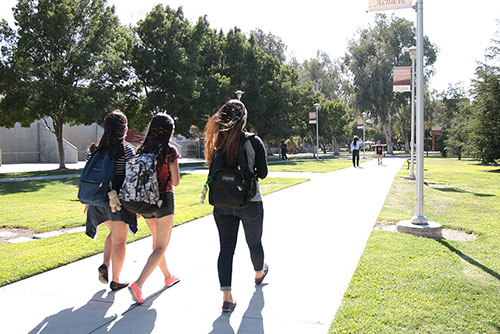 Students at Merced College